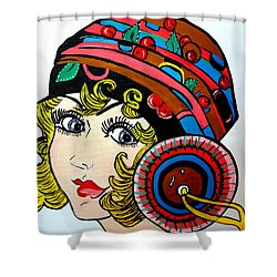 Art Deco  Ann Shower Curtain by Nora Shepley