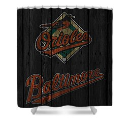 Baltimore Orioles Shower Curtain