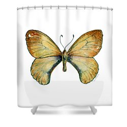 15 Clouded Apollo Butterfly Shower Curtain