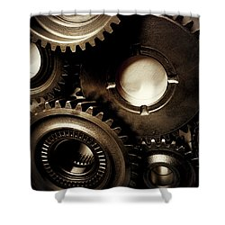 Cogs No3 Shower Curtain