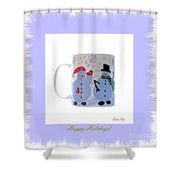 Happy Holidays. Shower Curtain