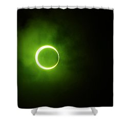 15 January 2010 Solar Eclipse Maldives Shower Curtain