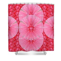 Novino Unique Signature Style Graphic Art Shades Of Sparkle Gold Textures And Flower Pattern In Betw Shower Curtain