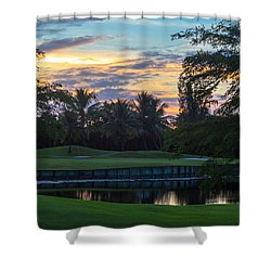15th Green At Hollybrook Shower Curtain