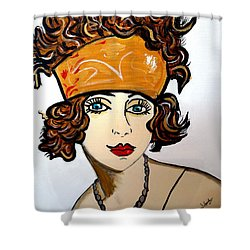 Art Deco  Hilda Shower Curtain by Nora Shepley