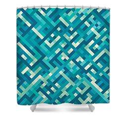 Pixel Art Shower Curtain