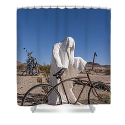 Rhyolite Shower Curtain by Muhie Kanawati