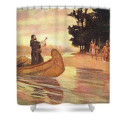 1600s 1600s Father Jacques Marquette Shower Curtain