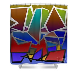 1624 Abstract Thought Shower Curtain