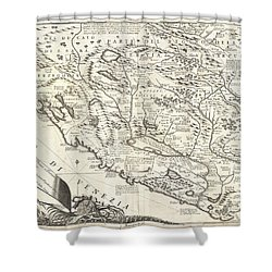 1690 Coronelli Map Of Montenegro Shower Curtain