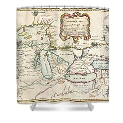 1755 Bellin Map Of The Great Lakes Shower Curtain