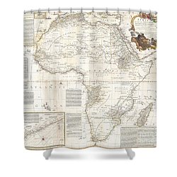 1787 Boulton  Sayer Wall Map Of Africa Shower Curtain
