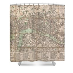 1795 Bowles Pocket Map Of London Shower Curtain