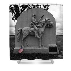 17th Pennsylvania Cavalry Monument Gettysburg Shower Curtain by James Brunker