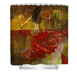 Abstract Belly Dancer 6 Shower Curtain by Corporate Art Task Force