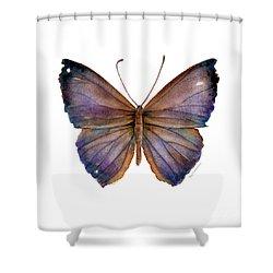 18 Purple Pandemos Shower Curtain by Amy Kirkpatrick