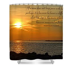 180- Henry David Thoreau Shower Curtain