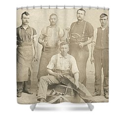 1800's Vintage Photo Of Blacksmiths Shower Curtain by Charles Beeler