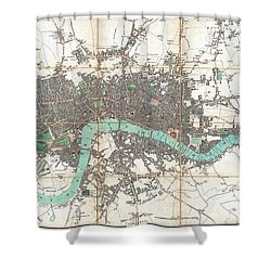 1806 Mogg Pocket Or Case Map Of London Shower Curtain