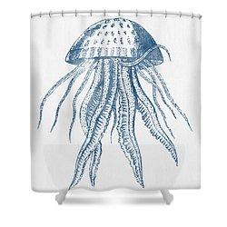 1844 Octopus Ink Drawing Shower Curtain by Aged Pixel