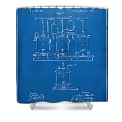 1873 Brewing Beer And Ale Patent Artwork - Blueprint Shower Curtain