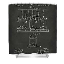1873 Brewing Beer And Ale Patent Artwork - Gray Shower Curtain