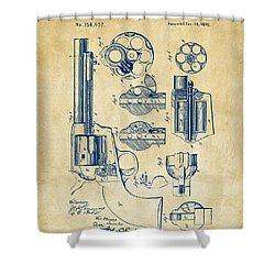 1875 Colt Peacemaker Revolver Patent Vintage Shower Curtain