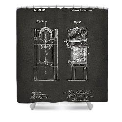1876 Beer Keg Cooler Patent Artwork - Gray Shower Curtain