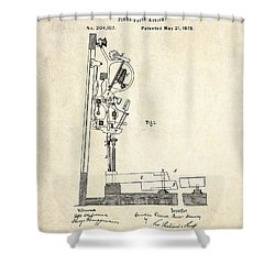 1878 Steinway Piano Forte Action Patent Art  Shower Curtain by Gary Bodnar