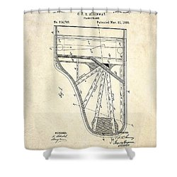 1885 Steinway Piano Frame Patent Art Shower Curtain