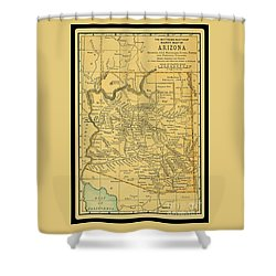 1891 Arizona Map Shower Curtain