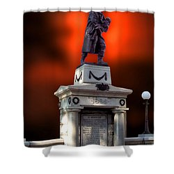 1898 Firemen Memorial St Joes Michigan Shower Curtain by Thomas Woolworth
