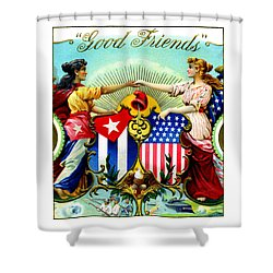 1898 Good Friends Cuban Cigars Shower Curtain