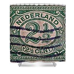 1899 Netherlands Stamp Shower Curtain