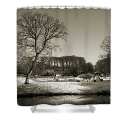 18th Century Winter Shower Curtain by Anne Gilbert