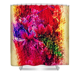 Magnolias In Abstract Shower Curtain