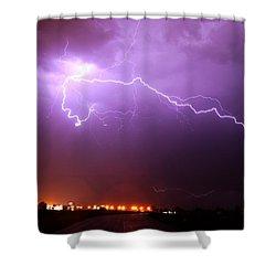 Nebraska Cells Redevloping Over South Central Nebraska Shower Curtain