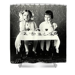 1900 Girlfriends Teaparty Shower Curtain by Historic Image