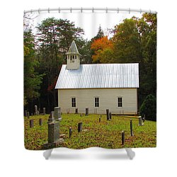 Cade's Cove 1902 Methodist Church Shower Curtain