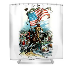 1902 Rough Rider Teddy Roosevelt Shower Curtain