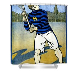1905 - Johns Hopkins University Lacrosse Poster - Color Shower Curtain