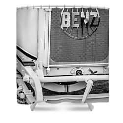 1908 Benz Prince Heinrich Two Seat Race Car Grille Emblem -1696bw Shower Curtain by Jill Reger
