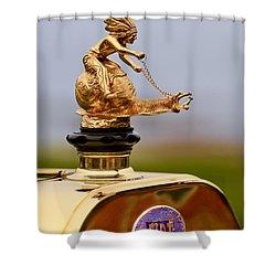 1911 Fiat Tipo 6 Holbrook 4 Passenger Demi-tonneau Hood Ornament Shower Curtain by Jill Reger