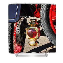 1911 Ford Model T Torpedo 4 Cylinder 25 Hp Taillight Shower Curtain by Jill Reger