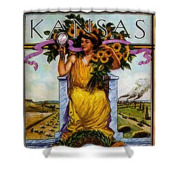 1911 Kansas Poster Shower Curtain