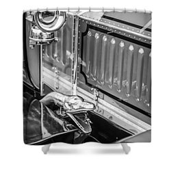 1912 Rolls-royce Silver Ghost Rothchild Et Fils Style Limousine Snake Horn -0711bw Shower Curtain by Jill Reger