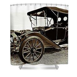 1913 Argo Electirc Model B Roadster Coffee Shower Curtain by Marcia Colelli