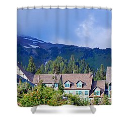 1916 Paradise Inn. Mount Rainier National Park Shower Curtain