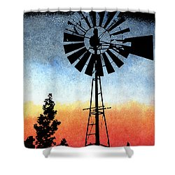 Nostalgia High Tech Shower Curtain by R Kyllo