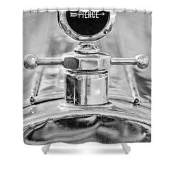 1920 Pierce-arrow Model 48 Coupe Hood Ornament - Motometer Shower Curtain by Jill Reger
